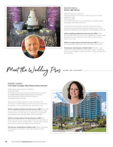 Page 38 of MEET THE WEDDING PROS