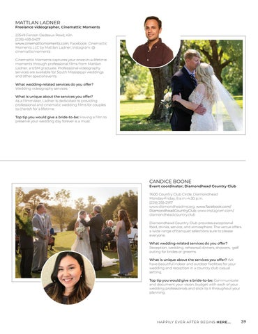 Page 39 of MEET THE WEDDING PROS