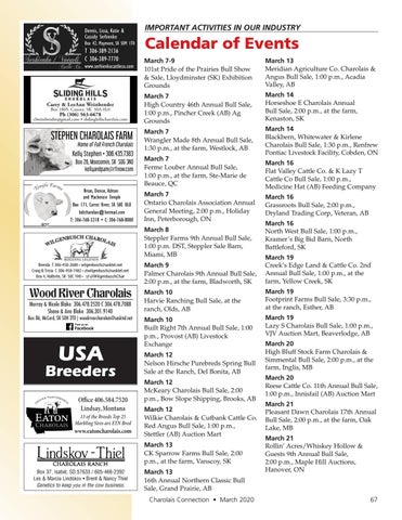 Page 67 of Calendar of Events