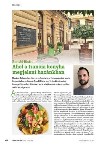 Page 40 of Helyek: BorsSó Bistro: Ahol a francia konyha megjelent hazánkban