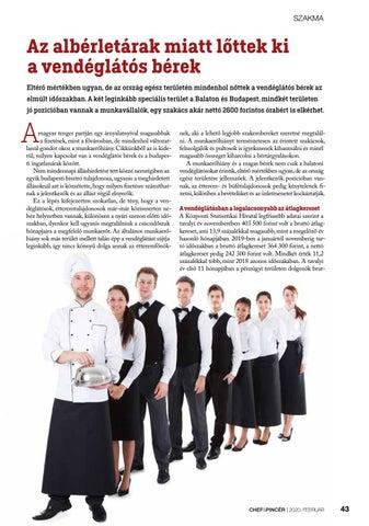 Page 43 of Szakma: Az albérletárak miatt lőttek ki a vendéglátós bérek