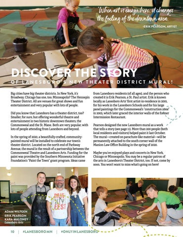 """Page 10 of DISCOVER THE """"STORY"""" OF LANESBORO'S NEW THEATER DISTRICT MURAL"""