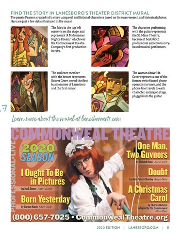 """Page 11 of DISCOVER THE """"STORY"""" OF LANESBORO'S NEW THEATER DISTRICT MURAL"""