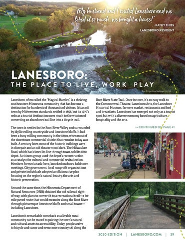 Page 39 of LANESBORO: THE PLACE TO LIVE, WORK AND PLAY