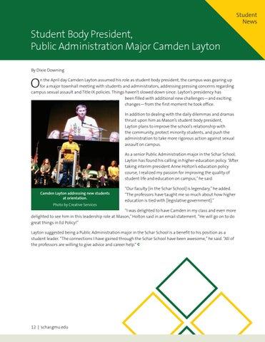 Page 12 of Student Body President Camden Layton