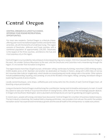 Page 7 of Central Oregon Introduction