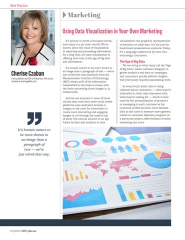 Page 48 of Using Data Visualization in Your Own Marketing