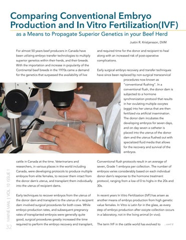 Page 34 of Comparing Conventional Embryo Production and In Vitro Fertilization(IVF) as a Means to Propagate Superior Genetics in your Beef Herd