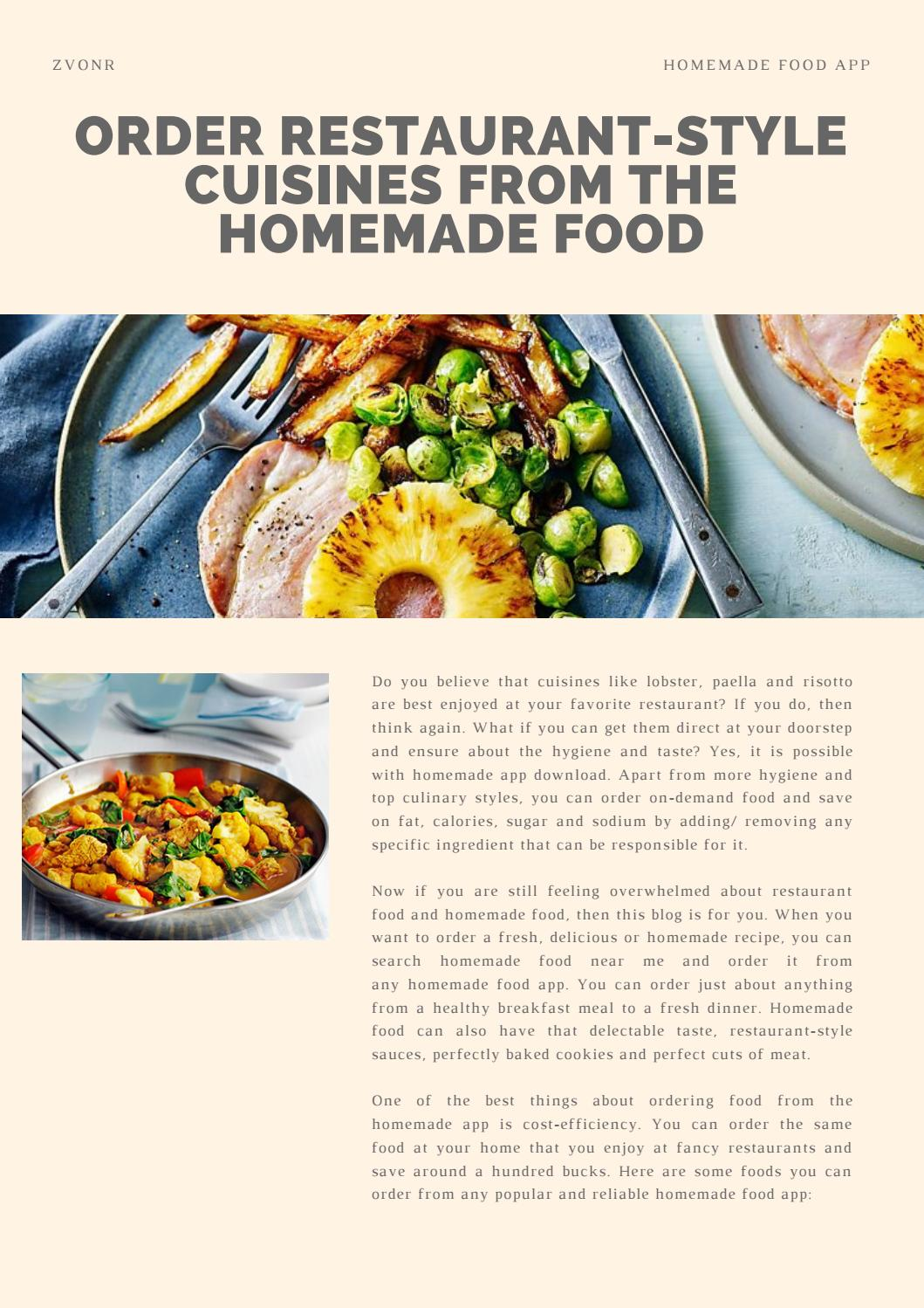 Zvonr Order Restaurant Style Cuisines From The Homemade Food By Zvonr Issuu