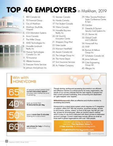 Page 16 of Top 40 Employers in Markham