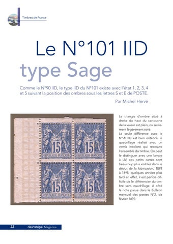 Page 22 of Le type Sage n°101IID