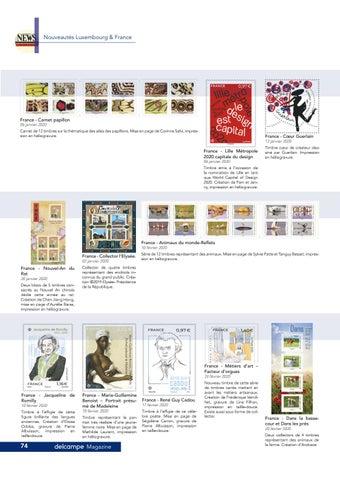 Page 74 of Nouveautés timbres de France