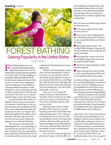 Page 15 of FOREST BATHING