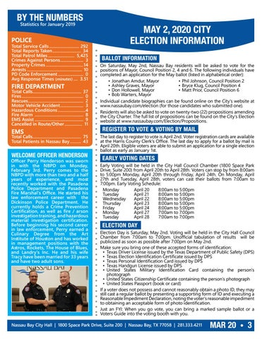 Page 3 of Welcome Officer Perry Henderson