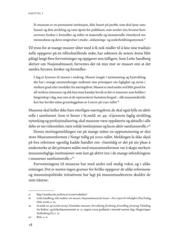 Page 18 of Museologi og museumskunnskap