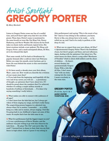 Page 5 of Artist Spotlight: Gregory Porter