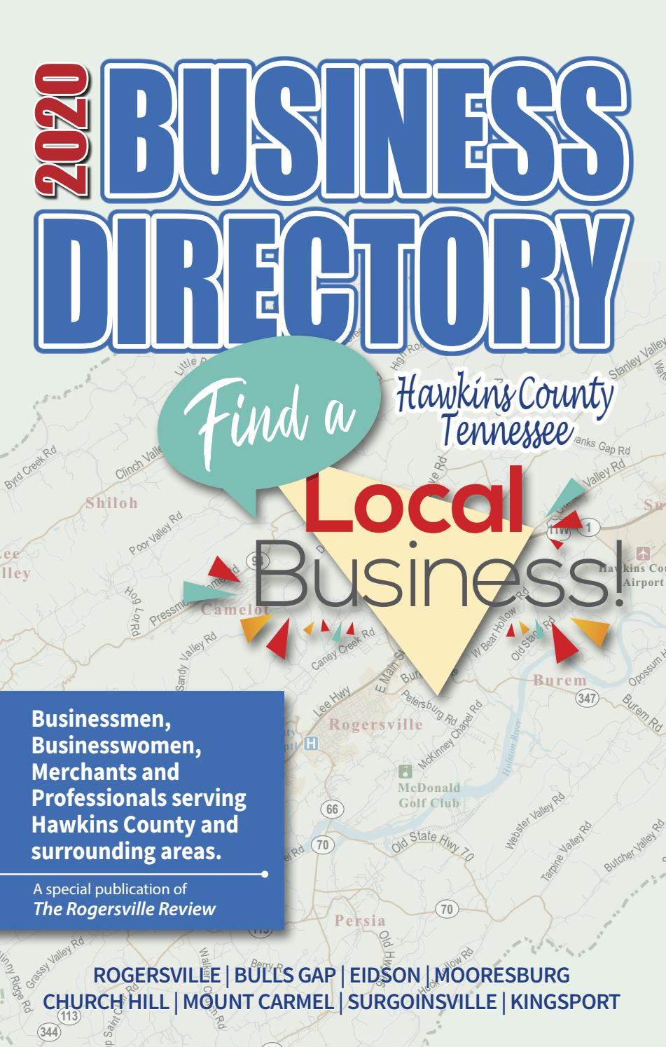 Hawkins County Busiiness Directory 2020 By Discover Hawkins County Issuu