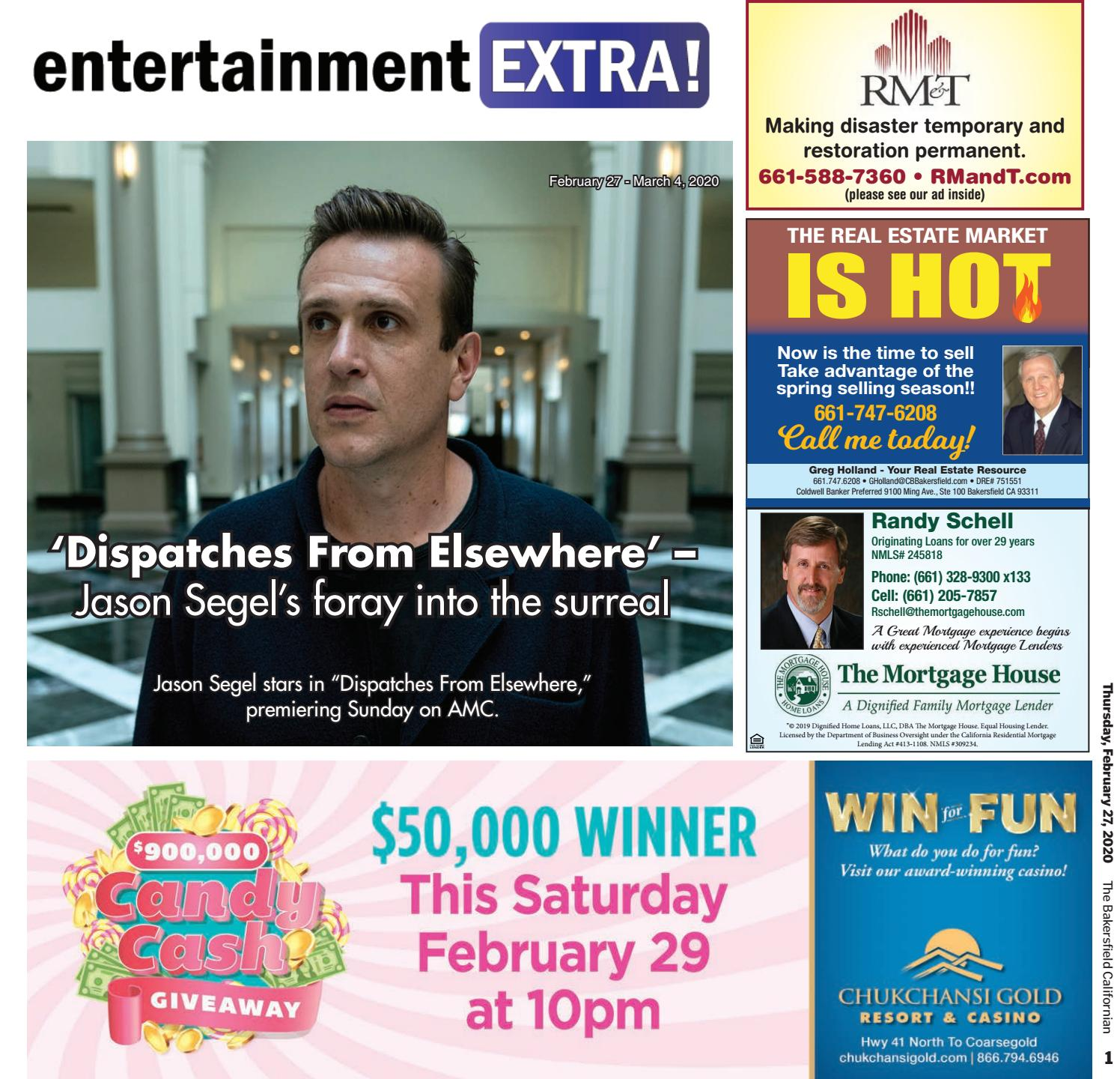 Entertainment Extra Feb 27 March 4 2020 By The Bakersfield Californian Specialty Publications Issuu