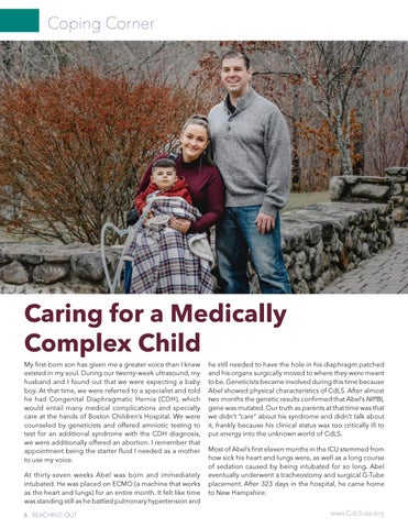 Page 6 of Coping Corner Caring for a Medically Complex Child