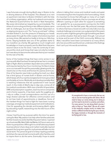 Page 7 of Coping Corner Caring for a Medically Complex Child