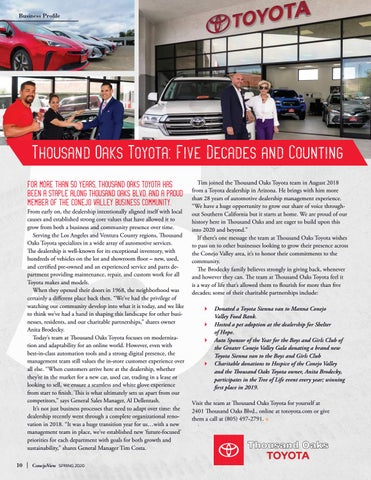 Page 12 of Thousand Oaks Toyota: Five Decades and Counting