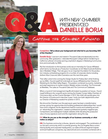 Page 8 of with New Chamber President/CEO Danielle Borja