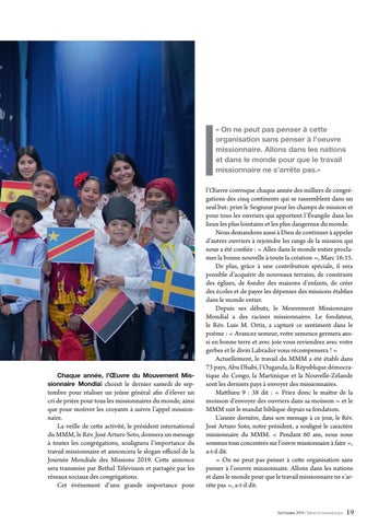 Page 19 of Actualité LES MISSIONNAIRES DANS LE