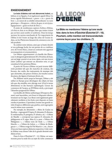 Page 20 of Enseignement LA LECON D'EBENE