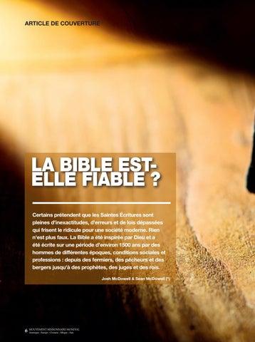 Page 6 of Couverture LA BIBLE EST-ELLE FIABLE?