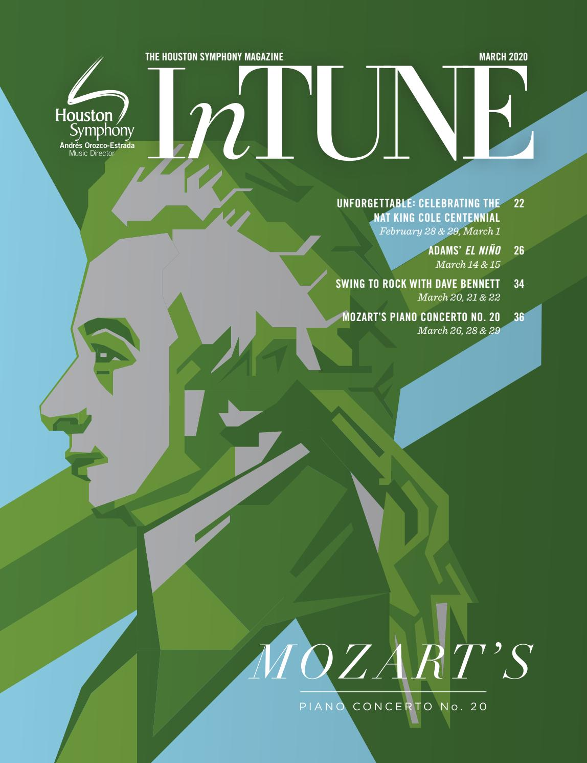 James Hornsby A Christmas Carol 2020 InTune — The Houston Symphony Magazine — March 2020 by Houston