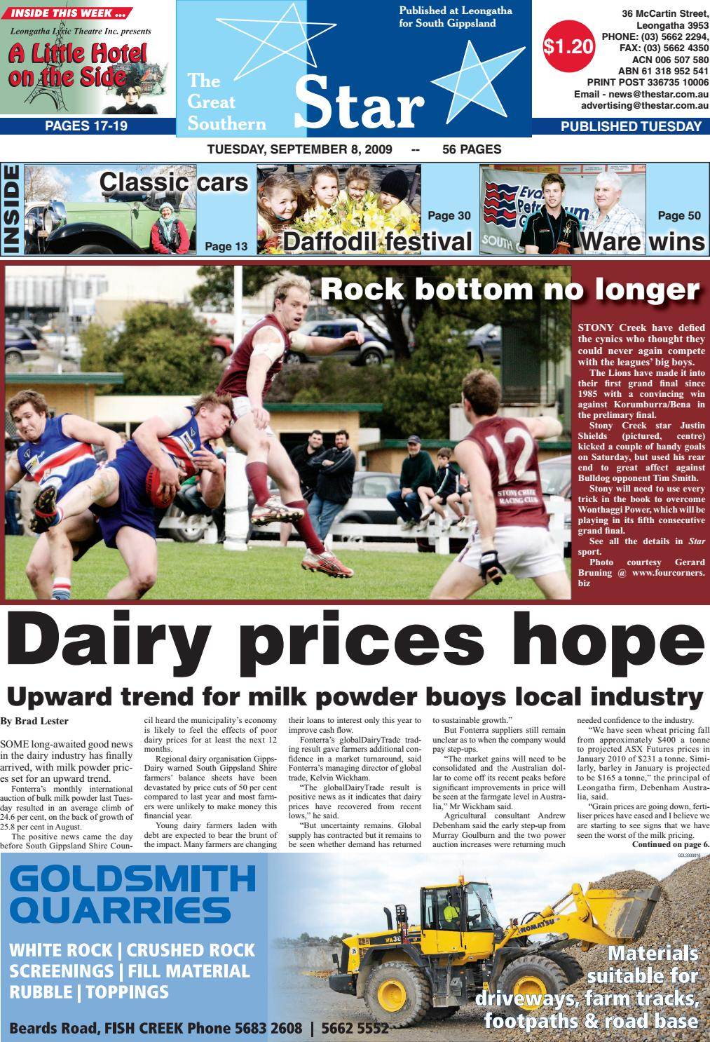 The Great Southern Star September 8 2009 By The Great Southern Star Issuu