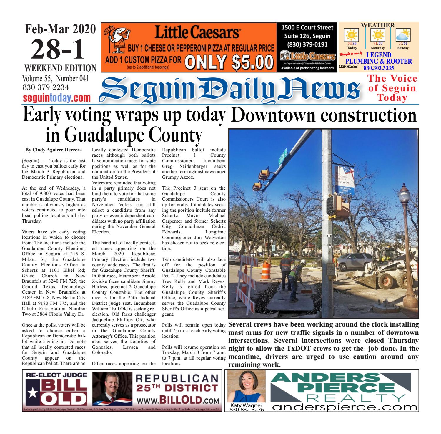Sdn February 28 2020 By Seguin Daily News Issuu