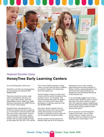 Page 34 of Featured Summer Camp: HoneyTree Early Learning Centers