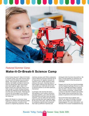 Page 36 of Featured Summer Camp: Make-it-Or-Break-It Science Camp