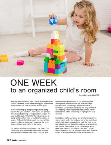 Page 42 of ONE WEEK to an organized child's room