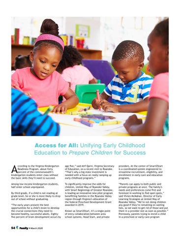 Page 54 of Access for All: Unifying Early Childhood Education to Prepare Children for Success