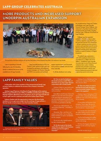 Page 18 of Lapp Group Celebrates Australia
