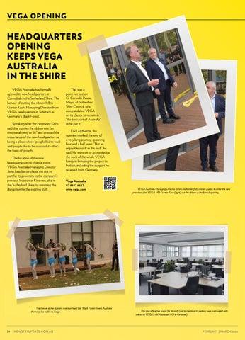 Page 24 of New HQ for Vega Australia