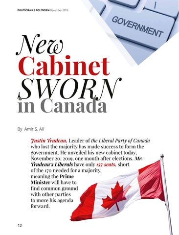 Page 12 of New Cabinet Sworn in Canada