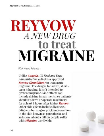 Page 16 of Reyvow a New Drug to Treat Migraine