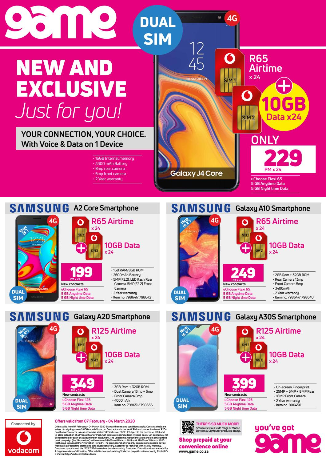 Game Sa Vodacom Contract Deals 7 February To 4 March 2020 By Game Stores Issuu