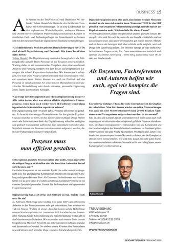 Page 17 of TREUVISION AG Bessere Finanzprozesse dank Digitalisierung