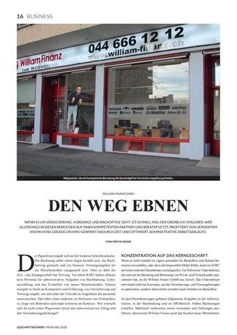 Page 18 of WILLIAM FINANZ GMBH Den Weg ebnen
