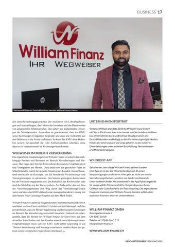 Page 19 of WILLIAM FINANZ GMBH Den Weg ebnen