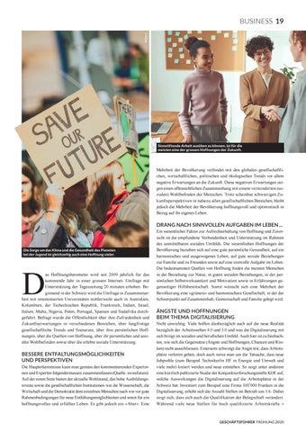 Page 21 of HOFFNUNGEN UND SORGEN 2020