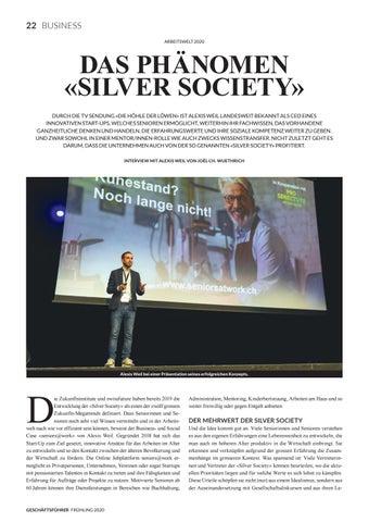 Page 24 of ARBEITSWELT 2020 Das Phänomen «Silver Society