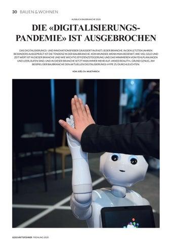 Page 32 of AUSBLICK BAUBRANCHE 2020 Die Digitalisierungs «Pandemie» ist ausgebrochen