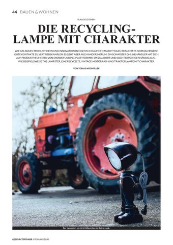 Page 46 of BLAUGOLD GMBH Die Recycling Lampe mit Charakter