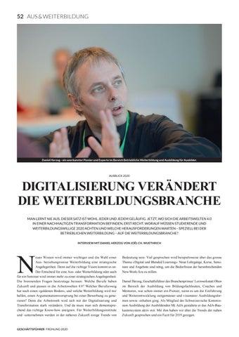 Page 54 of AUSBLICK 2020 Digitalisierung verändert die Weiterbildungsbranche