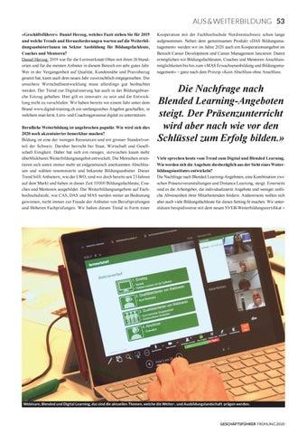 Page 55 of AUSBLICK 2020 Digitalisierung verändert die Weiterbildungsbranche